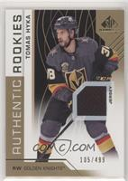 Authentic Rookies - Tomas Hyka /499