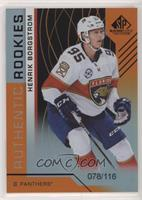 Authentic Rookies - Henrik Borgstrom #78/116