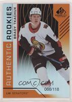 Authentic Rookies - Brady Tkachuk #/118