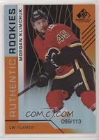 Authentic Rookies - Morgan Klimchuk #/113