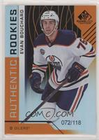 Authentic Rookies - Evan Bouchard #/118