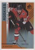 Authentic Rookies - Christian Wolanin #/115