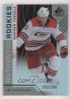 Authentic Rookies - Warren Foegele #32/296