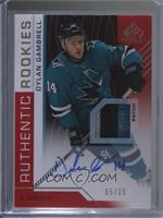 Authentic Rookies - Dylan Gambrell /15