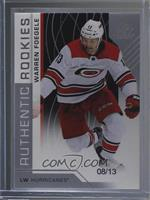 Authentic Rookies - Warren Foegele #/13