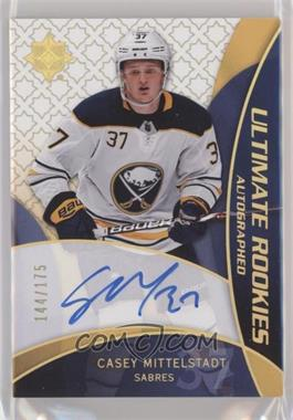 2018-19 Upper Deck Ultimate Collection - 2008-09 Retro Rookies Auto #RRA-CM - Casey Mittelstadt /175