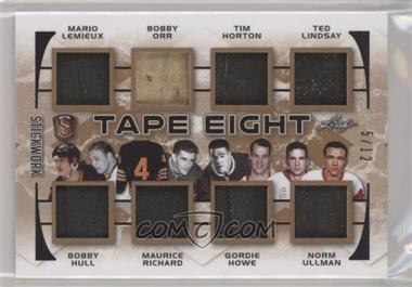 2018 Leaf In the Game Stickwork - Tape eight #T8-02 - Mario Lemieux , Bobby Hull , Bobby Orr , Maurice Richard , Tim Horton , Gordie Howe , Ted Lindsay , Norm Ullman /12