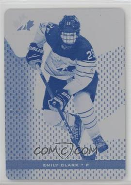 2018 Upper Deck Team Canada Juniors - [Base] - Printing Plate Cyan #78 - Emily Clark /1