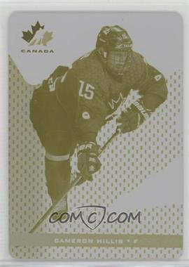 2018 Upper Deck Team Canada Juniors - [Base] - Printing Plate Yellow #43 - Cameron Hillis /1