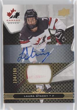 2018 Upper Deck Team Canada Juniors - [Base] - Team Canada Premium Swatch Auto [Autographed] [Memorabilia] #67 - Laura Stacey /199