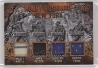 Mickey Mantle, Mark Messier, Lawrence Taylor, Patrick Ewing #/15