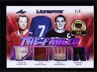 Doug Harvey, Tim Horton, Bill Gadsby, Bobby Orr #/9