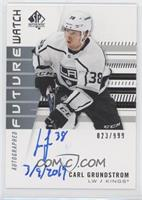 Autographed Future Watch Rookies - Carl Grundstrom (