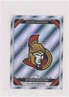 Foil NHL Team Stickers - Ottawa Senators