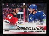 Young Guns - Jack Hughes, Quinn Hughes #36/100