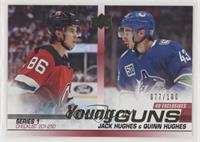 Young Guns - Jack Hughes, Quinn Hughes #/100