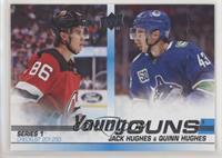 Young Guns Checklist - Jack Hughes, Quinn Hughes [PoortoFair]