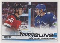 Young Guns Checklist - Jack Hughes, Quinn Hughes