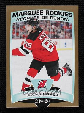 2019-20 Upper Deck - O-Pee-Chee Update - Gold #611 - Marquee Rookies - Jack Hughes [Mint]