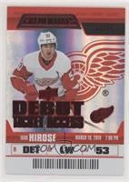 Debut Ticket Access Rookies - Taro Hirose #/99