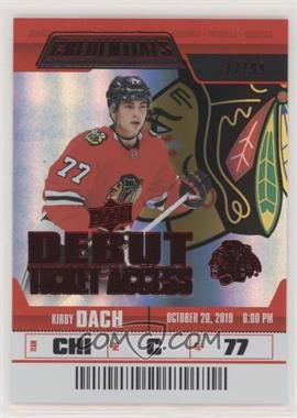 2019-20 Upper Deck Credentials - [Base] - Red #146 - Debut Ticket Access - Kirby Dach /99