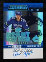 Tier 2 - Quinn Hughes [Near Mint‑Mint+] #/199