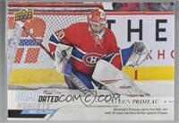 December - (Dec. 11, 2019) - Rookie Netminder Cayden Primeau Earns 1st NHL Win