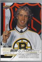 June All-Time - (June 21, 1997) - Boston Bruins Select Center Joe Thornton with…
