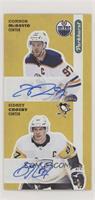 Dual Auto - Connor McDavid, Sidney Crosby #/10