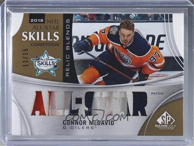 2019-20 Upper Deck SP Game Used - 2019 All-Star Skills Relic Blends - Patch #ASRB-CM - Connor McDavid /15