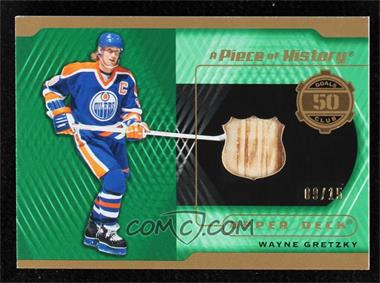 2019-20 Upper Deck SP Game Used - A Piece of History - 50 Goal Season Club - Premium Material #50-WG - Wayne Gretzky /15