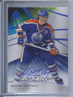 2019-20 Upper Deck SP Game Used - [Base] - Blue Auto [Autographed] #1 - Wayne Gretzky