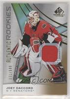 Authentic Rookies - Joey Daccord #/599