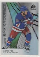 Authentic Rookies - Adam Fox #/298