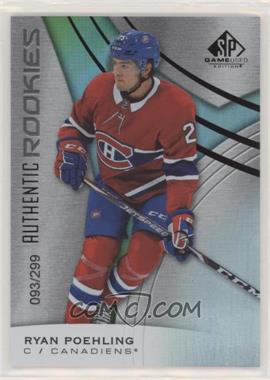 2019-20 Upper Deck SP Game Used - [Base] - Rainbow #137 - Authentic Rookies - Ryan Poehling /299
