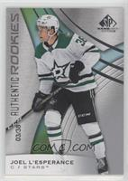 Authentic Rookies - Joel L'Esperance #/38