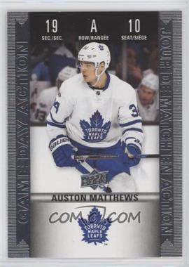 2019-20 Upper Deck Tim Hortons Collector's Series - Historic Game Day Action #HGD-10 - Auston Matthews