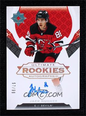 2019-20 Upper Deck Ultimate Collection - [Base] #200 - Ultimate Rookies Auto Tier 2 - Jack Hughes /99