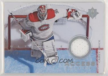 2019-20 Upper Deck Ultimate Collection - Ultimate Access Jersey #UA-CP - Carey Price