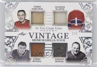 Terry Sawchuk, Jacques Plante, Gerry McNeil, Johnny Bower #/5