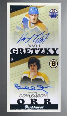 2020-21 Upper Deck Parkhurst - Tallboys Achievements #TBA-3 - Autographs - Wayne Gretzky, Bobby Orr /35