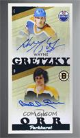 Autographs - Wayne Gretzky, Bobby Orr #/35