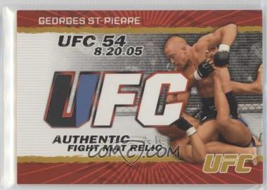 2009 Topps UFC - Authentic Fight Mat Relic - Gold #FM-GSP - Georges St-Pierre /199