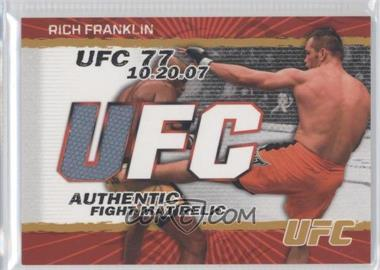 2009 Topps UFC - Authentic Fight Mat Relic - Gold #FM-RF - Rich Franklin /199