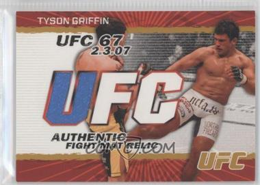 2009 Topps UFC - Authentic Fight Mat Relic - Gold #FM-TG - Tyson Griffin