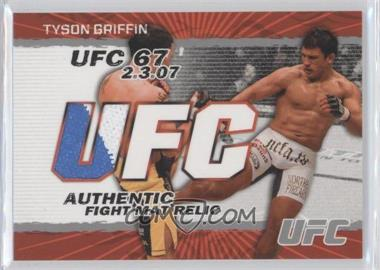 2009 Topps UFC - Authentic Fight Mat Relic #FM-TG - Tyson Griffin