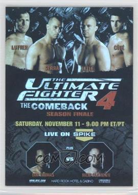 2009 Topps UFC - Fight Poster Review #FPR-TUF4 - Matt Serra, Chris Lytle