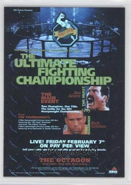 2009 Topps UFC - Fight Poster Review #FPR-UFC12 - UFC 12