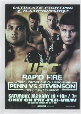 2009 Topps UFC - Fight Poster Review #FPR-UFC80 - UFC80 (B.J. Penn, Joe Stevenson)