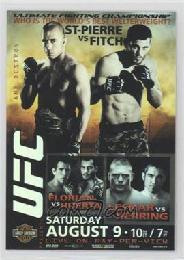 2009 Topps UFC - Fight Poster Review #FPR-UFC87 - Georges St-Pierre, Jon Fitch